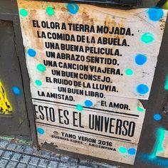 Esto es el Universo Más del street art de #Palermo mi barrio preferido en #BuenosAires. Estos afiches me encantan y la grannnn mayoría son de @tanoveron #streetart #Argentina #frases #tanoveron #igersbsas #universo #viajar #blogdeviajes Motivational Messages, Inspirational Quotes, Best Quotes, Love Quotes, Street Quotes, Positive Phrases, Quotes En Espanol, Vintage Quotes, Pretty Quotes