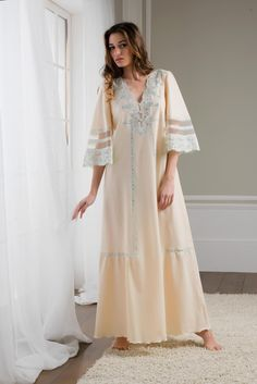 Enter the world of Flora Lastraioli and discover our latest designs: Silk, Cotton, Jersey, and Bridal. Italian Lingerie, Vintage Lingerie, Women Lingerie, Cotton Nighties, Night Dress For Women, Abaya Fashion, Modest Outfits, Nightwear, Night Gown
