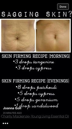 YL Essential Oils created into a skin firmer for saggy skin