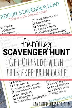 Help get your family playing outside with these free printable nature scavenger hunts Backyard Scavenger Hunts, Nature Scavenger Hunts, Scavenger Hunt For Kids, Outdoor Activities For Kids, Nature Activities, Fun Activities, Spring Activities, Reading Activities, Kids Ride On