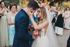 Ονειρικός elegant γάμος με έντονα χρώματα   Λυδία & Λευτέρης - Love4Weddings Bright Colors, Colours, Elegant Wedding, Craft, Wedding Dresses, Fashion, Wedding, Bride Dresses, Moda
