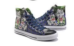 576f6595351b43 Converse Shoes Joker High Tops Chuck Taylor For Sale Joker is one bad guy  in the comics - batman series .This joker converse in.