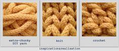 DIY make your own extra chunky yarn