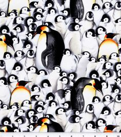 Jo-Ann Stores Novelty Cotton Fabric Penguins