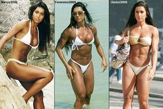 before and after transformation from Brazilain bikini babe to #Fitness model, by Gracyanne Barbosa : if you love #Health & #Fitspo Inspiration - you'll love the motivational designs at CageCult MMA Fashion: http://cagecult.com/mma