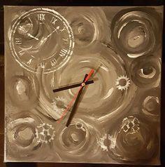 Diy ur på lærred
