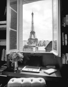 Eiffel tower view from apartment.