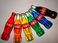 Unique Coca-Cola Multiple Oil Color Glass Bottles