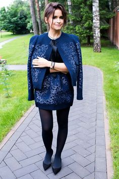 Miroslava Duma (Louis Vuitton suit with Giorgio Armani shoes)