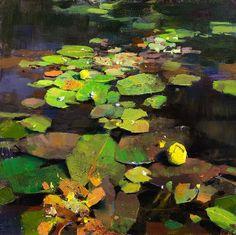 Painting by Mark Boedges. Landscape Art, Landscape Paintings, Landscapes, Water Element, Lily Pond, Plant Art, Classical Art, Global Art, Water Lilies