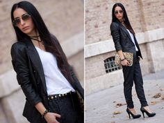 SPECIAL LEATHER JACKET and CUFFED PANTS (by WOWS Withorwithoutshoes.com) http://lookbook.nu/look/3429413-SPECIAL-LEATHER-JACKET-and-CUFFED-PANTS