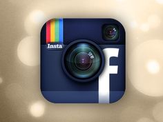 #Instagram #Facebook #logo mashup to represent the purchase of Instagram by Facebook earlier this year.