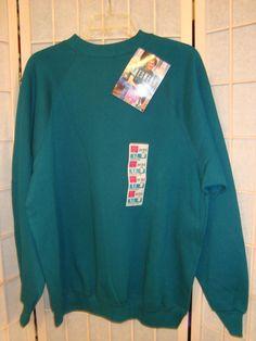 New W/Tag Hanes Her Way Sz XL 16-18 Prussian Teal Crewneck Sweatshirt Top  #HanesHerWay #SweatshirtCrew