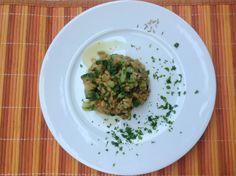 Risotto kamut e zucchine ai semi di finocchio    http://universitariogoloso.altervista.org/blog/