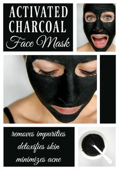 diy face mask Activated Charcoal Face Mask - This lovely little mask is amazing at killing bacteria, getting rid of acne, and giving your face a nice deep cleaning, plus its a fun way to scare family members. Diy Peel Off Face Mask, Diy Face Mask, Face Scrub Homemade, Homemade Face Masks, Homemade Facials, Beauty Products To Make At Home, Activated Charcoal Face Mask, Charcoal Face Mask Diy, Charcoal Face Pack