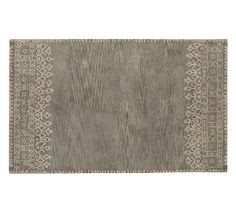 Desa Bordered Wool Rug, 5x8', Gray
