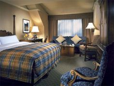 Cozy accommodations at the Fairmont Chateau Whistler