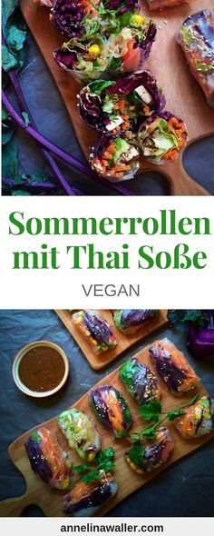 Summer Rolls are perfect as a Snack or to take to work. They are light and easy to personalize. Try which version you'll like the most. Healthy Low Calorie Meals, Healthy Eating Recipes, Vegetarian Recipes, Healthy Eats, Thai Dipping Sauce, Thai Sauce, Slimming Recipes, Summer Rolls, Food Network Recipes