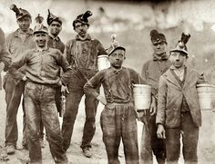 (1908, Oct.) Drivers and Trappers Going Home, Barnesville Mine - Fairmont, West Virginia