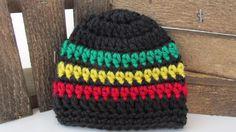 Rasta Preemie Hat, Crochet Preemie Beanie, Reggae Micro Preemie Hat, NICU Hat…