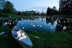 Светящиеся воздушные шары на воде - Искусство воздушного шара!