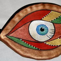 Coin Purse Handmade Gold Eyeball - Marvin