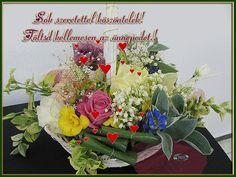 Névnapra, születésnapra Floral Wreath, Banner, Wreaths, Decor, Decoration, Decorating, Banners, Dekoration, Garlands