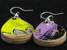 Skateboards Upcycled into earrings!!