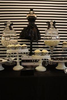 Black & White Dessert Table by OC Sugar Mama