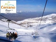 Chairlift on the Gran Sasso Mountain