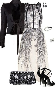 """""""Black & White Rose"""" by corenna-obrien ❤ liked on Polyvore"""