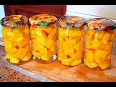 Dynia marynowana - YouTube Preserves, Mango, Homemade, Fruit, Youtube, Manga, Preserve, Home Made, Preserving Food