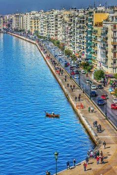 Port of Thessaloniki, Thermaic Gulf, Macedonia, Greece. Santorini Greece, Athens Greece, Macedonia Greece, Most Beautiful Beaches, Beautiful Places, Greek Isles, Belle Villa, Thessaloniki, Adventure Is Out There