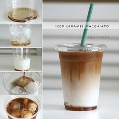 Starbucks Iced Caramel Macchiato Copycat Forget about heading to Starbucks for coffee fix and make your own caramel macchiato at home! Today I'm making one of my favorite Starbucks drinks, iced caramel macchiato, which you probably guessed when I made how Starbucks Food, Sugar Free Starbucks Drinks, Starbucks Order, Ninja Coffee Bar Recipes, Coffee Drink Recipes, Healthy Coffee Drinks, Cold Coffee Drinks, Frozen Coffee Drinks, Starbucks Recipes