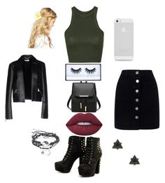 """""""Bad Gal"""" by ihascupquake270 on Polyvore featuring Topshop, Miss Selfridge, Versace, ASOS and Lime Crime"""