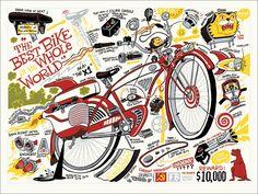 Zettwoch's Suitcase: ARTCRANK / Pee-Wee Bike Print!
