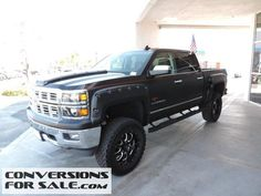 Lifted 2015 Chevy Silverado 1500 Crew LTZ Southern Comfort Black Widow