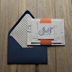 Cute Polka Dot Letterpress Invitation Suite by JustInviteMe, Samples for just $11.00, www.justinviteme.com