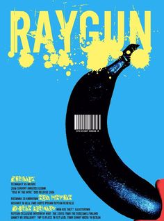 Raygun - fascinating use of colour around letterforms