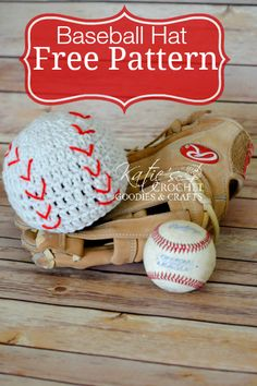 Free Baseball Crochet Hat Pattern by Katie's Crochet Goodies