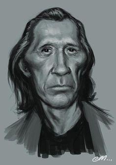 [ David Carradine ]- artist: Euan Mactavish - website: http://paper-pencil-pixels.blogspot.com/
