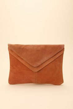 Arnsdorf Envelope Clutch -- Brown