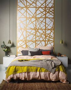 Super Diy Headboard Painted On Wall Ideas , . Super Diy Headboard Painted On Wall Ideas , …, Painted Headboard, Headboard Decor, Headboard Designs, Bedroom Wall, Master Bedroom, Bedroom Decor, Wall Design, House Design, Bedroom Styles