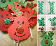 e57b98839d43c Creative Ideas - DIY Rudolph Reindeer Lollipops