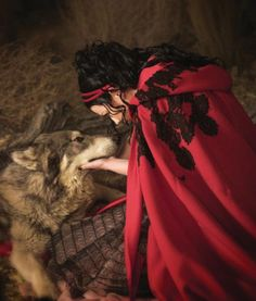 Amy Lee and a gorgeous wolf....such a beautiful combo!