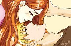 Bleach// Ichigo and Orihime Bleach Manga, Bleach Art, Anime Cupples, Anime Love, Ichigo E Orihime, Perfect Nose, Romantic Anime Couples, Bleach Couples, Bleach Funny