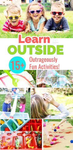 Summer activities for kids that are educational and fun! Ideas to beat the summer slide and keep kids learning ABCs, sight words, STEM concepts, and more -- all summer long. via @booksandgiggles