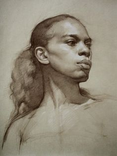 A Classic Point of View: Portrait Sketches 2014 Portrait Sketches, Art Drawings Sketches, Pencil Portrait, Portrait Art, Female Portrait, Figure Painting, Figure Drawing, Painting & Drawing, Charcoal Portraits