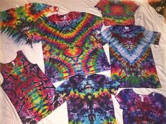 """72 Likes, 4 Comments - @rambleonrose710 on Instagram: """"All of these trippy tie dye shirts plus plenty more available for purchase on my etsy starting at…"""""""