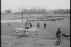 de Lackner HZ-1 Aerocycle test flight in 1954. Two contra-rotating rotors powered by a motorcycle engine with pontoons for water landings. (animated)